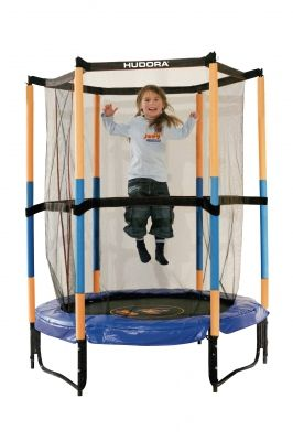 Батут Hudora Safety trampoline Jump in 3.0, 140 см, синий (65596)