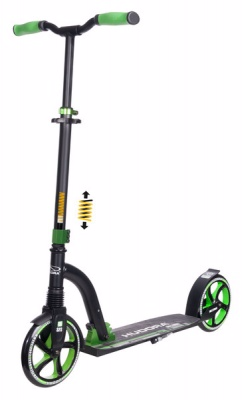 Самокат HUDORA Big Wheel Flex 200, зеленый